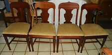Set of 4 Solid Ribbon Mahogany Empire Dinette Chairs / Sidechairs  (DC33)