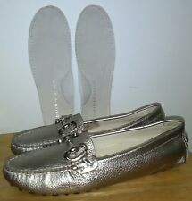 """Patricia Green """"RARE"""" Carrie Suede Flat SILVER Leather Shoes. Size EU 36"""