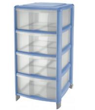 Cassettiera tontarelli con 4 cassetti colore Azzurro/azz. trasparente