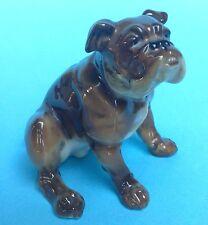 Hutschenreuther Selb Porzellanfigur Hund Bulldogge sitzend #2425 Karl Tutter ~55
