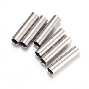 50PCS 304 Stainless Steel Tube Beads DIY Jewelry Finding 10x2.5mm Hole 2mm