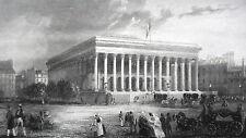 GRAVURE ANCIENNE 19e - LA BOURSE - PARIS