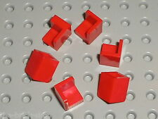 6 x LEGO Red Panel 1 x1 Corner ref 6231 / Set 10222 76052 8092 70402 10184 8362