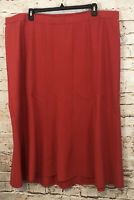 Catherines black label red skirt womens 3X new pull on paneled aline midi W7