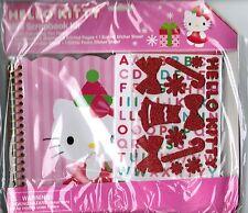 Sanrio HELLO KITTY NEW in Pack Mini Scrapbook Kit Album Stickers Paper