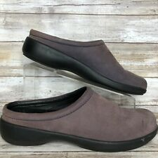 Dansko Solvei 10-10.5M Gray Nubuck Leather Clog Backless Casual Lightweight