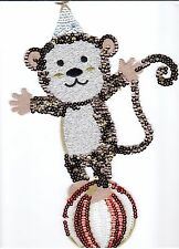 Sequin Patch: Circus Monkey on Ball