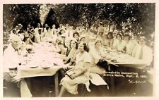 RPPC,Sierra Madre,CA.Normalette Convention,Sept.6,1931,Picnic,San Gabriel Valley