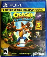 PS4 Playstation 4 Crash Bandicoot N-Sane Trilogy Original 3 Games 2 BONUS Levels