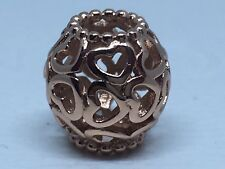 NEW AUTHENTIC PANDORA CHARM OPEN YOUR HEART ROSE GOLD COLLECTION #780964