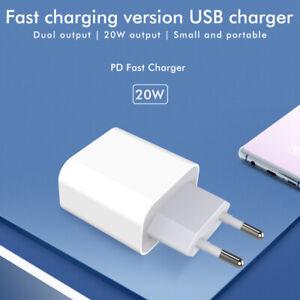 Schnell Ladegerät Adapter Netzstecker Netzteil für iPhone 11 12 Pro Max Mini