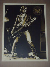 Dee Dee Ramone Shepard Fairey Obey Giant signed poster art print The Ramones