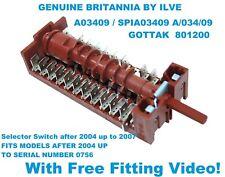 BRITANNIA Oven control Selector Switch A03409 GOTTAK 801200 cooker