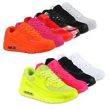 Damen Laufschuhe Profilsohle Sportschuhe Neon Turnschuhe 810581 Hot