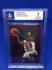 1995-96 NBA Hoops Michael Jordan Power Palette Insert BGS 7 NM Chicago Bulls HOT