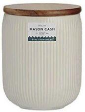 Mason Cash Linear Storage Jar 10cm x 13cm, White Stoneware [4288]