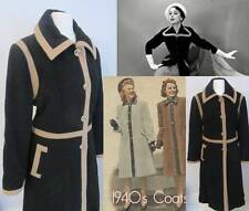 Women's Basic 1940s Tailored Vintage Coats & Jackets