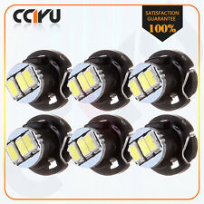 6X T4/T4.2 Neo Wedge 3014 SMD LED White Dash A/C Climate Light Bulbs For Ford