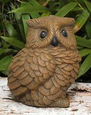 Stone Figurine Owl Bird Garden Figure Animal Decor Sculpture Cast