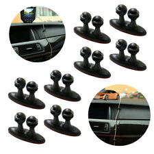 8 X Car Wire Cord Clip Cable Holder Tie Fixer Organizer Drop Adhesive Clamp
