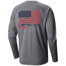 "New Mens Columbia Pfg ""Terminal Tackle"" Omni-Wick Graphic Shirt Top Tee Polo"