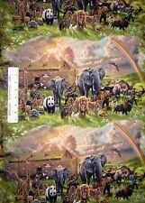 Religious Fabric - Noah's Ark Animal Scene - Elizabeth's Studio YARD