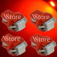 4 LED T5 Lampade B8.5D Per Cruscotto Quadro Strumenti SMD ROSSO Luci 12V