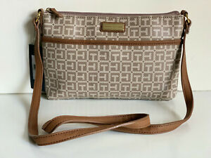 NEW! TOMMY HILFIGER EAST WEST BROWN MESSENGER CROSSBODY SLING BAG PURSE $69 SALE