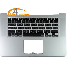 "Apple Topcase Palmrest With US Keyboard For MacBook Pro 15"" Retina A1398 2012"
