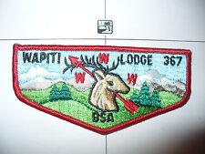 OA Wapiti Lodge 367,S11a,1970s Elk Flap,RED Bdr,VER BL,65,123,201,205,405,499,KY