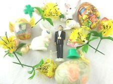 Vintage Spring/Easter Kitsch Bunny Rabbit/Japan/German Candy Container/Egg/Groom