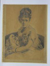dessin maternité mère et son enfant Période impressionniste/Numéro d'inventaire
