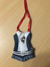 Barbie Doll Fashion Fever Day2Night Club Denim Jeans Belted Romper Outfit