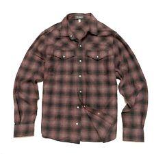 Ibex L Large Mens Plaid Shirt Wool Blend Long Sleeve Snap Buttons Pockets Taos