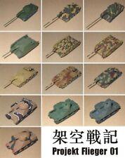 Popy Projekt Panzer 01 1/144 Scale Model Tanks (13pcs)
