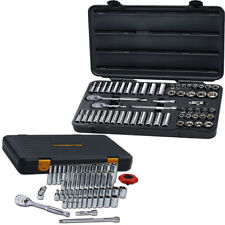 """GearWrench 80550F 57 Pc 3/8"""" and 80300P 51 Piece 1/4"""" Drive 6 Point SAE/Metric"""