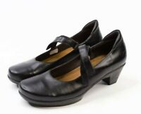 NAOT Women's Black Leather Mary Janes Made in Israel Comfort Shoes Size 9 US