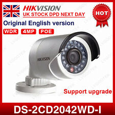 UK Stock Hikvision DS-2CD2042WD-I 4MP PoE WDR Mini Bullet Network IP Camera 4MM