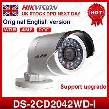 UK Stock Hikvision DS-2CD2042WD-I 4MP PoE WDR Mini Bullet Network IP Camera 4MM