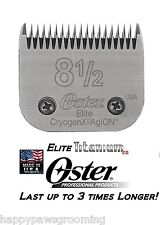 Oster A5 ELITE TITANIUM Cryogen-X # 8 1/2 Clipper Blade*LAST 3X LONGER*Fit Andis