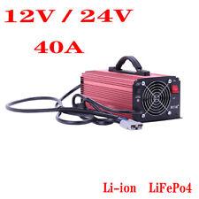 New listing 40A12V 24V Li-ion LiFePo4 LFP Battery Super Fast Charger 220V for RV/Forklift