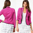 Femmes deux boutons Slim Casual Business Blazer Costume Veste Manteau Outwear