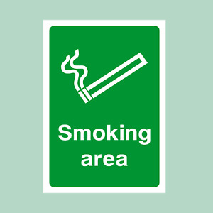 Designated Smoking Area - All Sizes - Plastic Sign/Sticker (MISC50)
