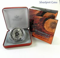 2009 $5 INTERNATIONAL YEAR OF ASTRONOMY Silver Proof Coin with Meteorite Pieces
