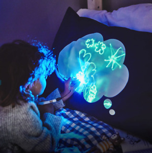 Glow Illuminated Interactive Doodle Drawing Bedtime Pillowcase Gift for Kids