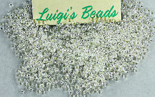 11/0 Round TOHO Japan Glass Seed Beads #21- Silver-Lined Crystal 15 grams