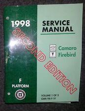 Werkstatthandbuch / Shop manual Pontiac Firebird / Trans Am & Camaro 1998