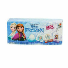 Disney Frozen Lip Balm Gift Set Elsa Anna Olaf + 2 Sticker Sheets Ice Cube Shape