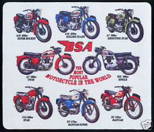 1 x BSA MOTORCYCLE, SHOOTING STAR, TWIN & B33 ,  MOUSE MAT OR SMALL TABLE MAT