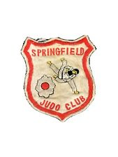 Vintage Felt Patch Springfield Judo Club Mma Ufc Self-defense 1960's